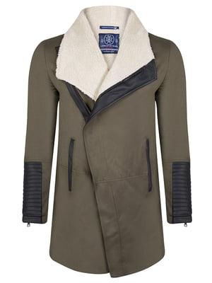 Пальто кольору хакі | 4592764