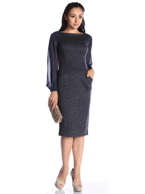 Платье темно-синее | 4592343