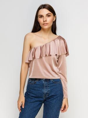 Блуза темно-бежева | 4590499