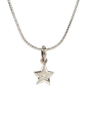 Кулон на серебряной цепочке «Звезда большая»   4592934