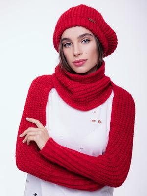 Шарф с рукавами красный   4595154