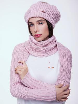 Шарф з рукавами рожевий | 4595156