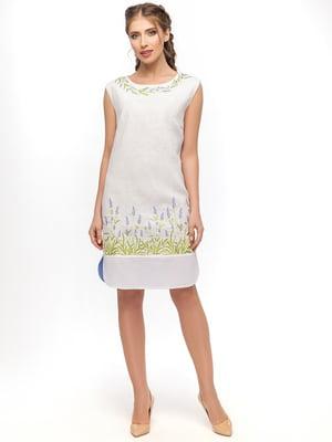 Сукня біла з вишивкою | 4593903