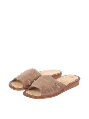 Тапочки коричневі | 4599442