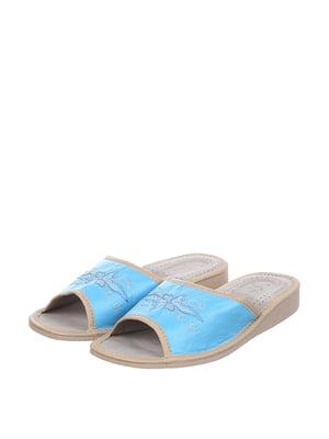 Тапочки блакитні | 4599443