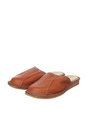 Тапочки коричневі | 4599485