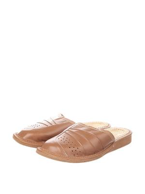 Тапочки коричневі | 4599492
