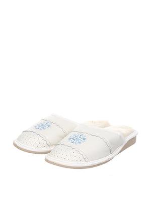 Тапочки білі | 4599524