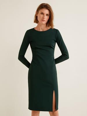 Платье темно-зеленое | 4575491