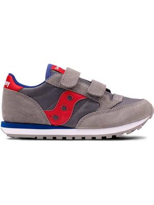 Кросівки сіро-червоні Jazz Double Hl | 4599785