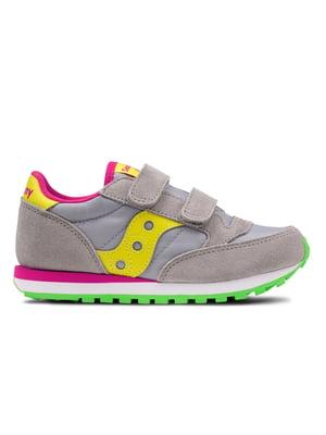 Кросівки сіро-жовті Jazz Double Hl | 4599789