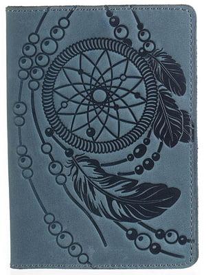 Обложка на паспорт синяя с рисунком | 4594583