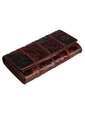 Гаманець коричневий з малюнком | 4594728