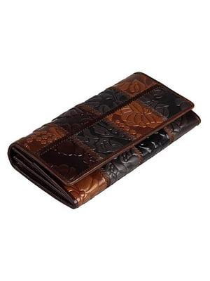 Гаманець коричневий з малюнком | 4594729