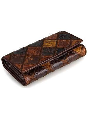 Гаманець коричневий з малюнком | 4594730