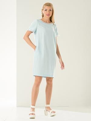 Платье голубое   4302450