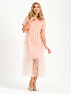 Платье персикового цвета   4068365