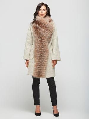 Пальто бежевое | 4601695
