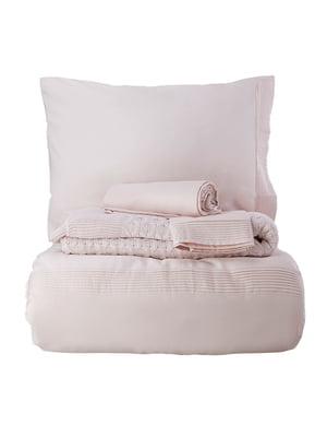 Комплект постельного белья двуспальный (евро) с пледом | 4601947