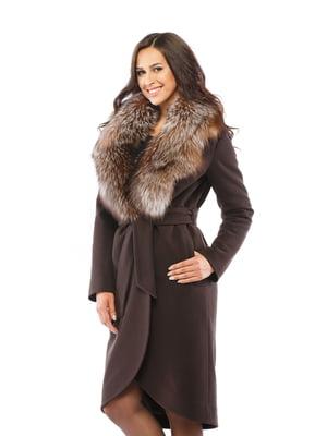 Пальто шоколадного цвета   4603646