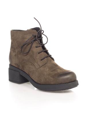 Ботинки цвета хаки | 4592823
