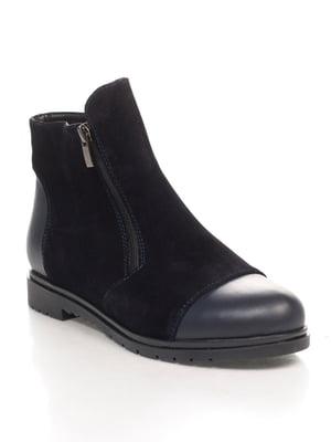 Ботинки синие   4596716