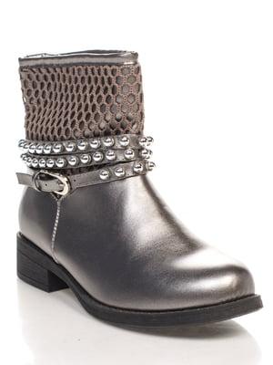 Ботинки цвета серый хаки   4603041