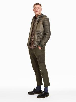 Куртка коричневая в камуфляжный принт   4588011