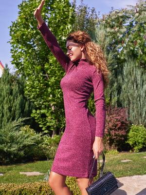 Платье-гольф цвета бордо | 4601148