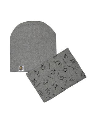 Комплект: шапка и шарф-снуд | 4607154