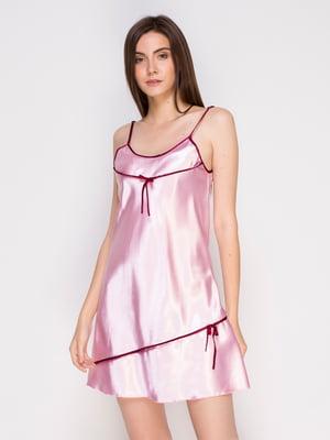 Рубашка ночная розовая | 4601451