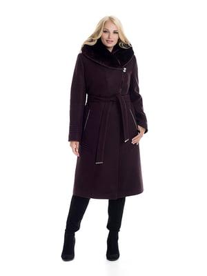 Пальто кольору марсала   4609895