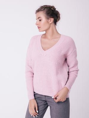 Пуловер кольору пудри | 4519942