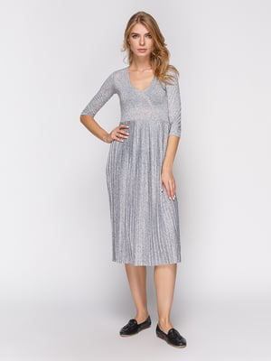 Платье серебристое | 4563129