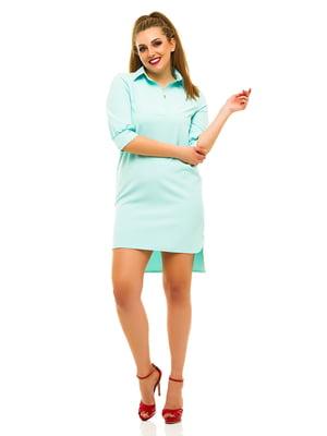 Платье мятного цвета | 3315383