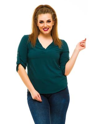 Блуза темно-зелена | 3315392