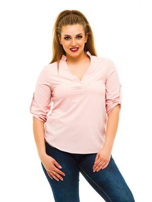 Блуза кольору пудри | 3315401