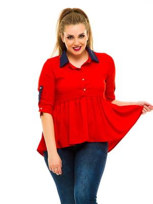 Блуза красная | 3315405