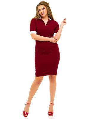 Платье бордовое | 3315416