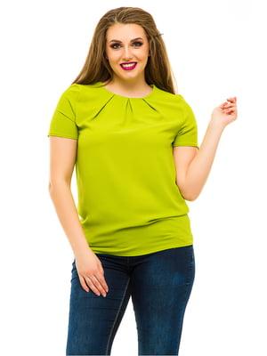 Блуза оливкового цвета | 3315421