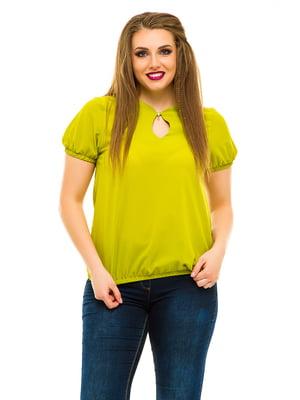 Блуза оливкового кольору | 3315435