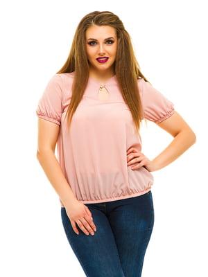 Блуза кольору пудри | 3315438