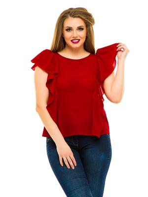 Блуза бордовая | 3315440
