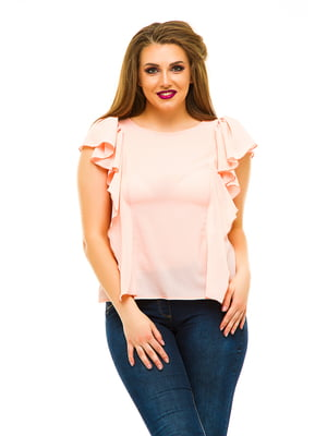 Блуза цвета пудры | 3315442