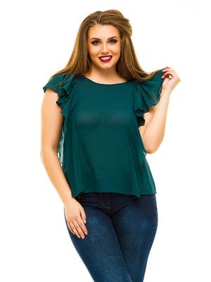 Блуза темно-зеленая   3315447