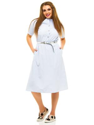 Сукня блакитна в смужку | 3315457