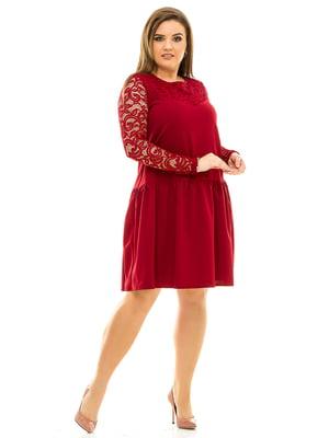 Сукня бордова | 3701520