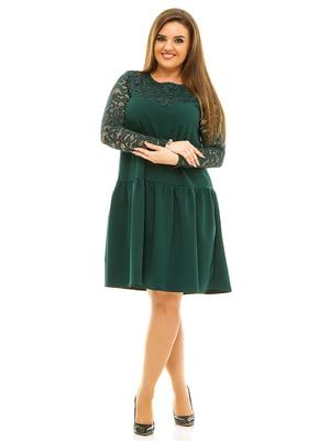 Сукня темно-зелена | 3701525