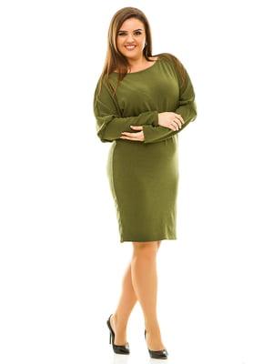 Сукня кольору хакі | 3701540