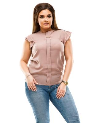 Блуза темно-бежева | 4613962